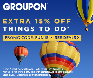 Extra 15% off Events & Activities local deals with code FUN15