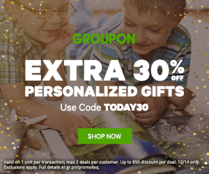30% off Personalized Gifts