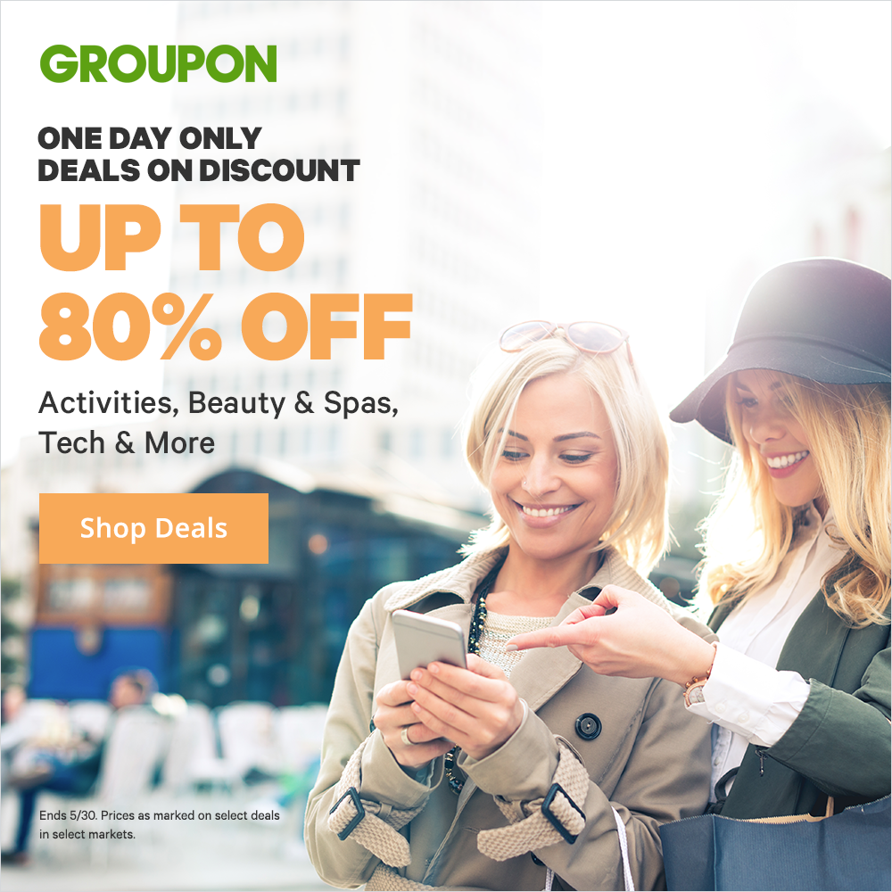 5/30 Offer: Deals on Discount: Save Up to 80% on Activities, Beauty & Spas, Tech & More