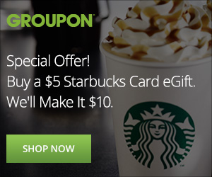 $5 for $10 Starbucks Deal