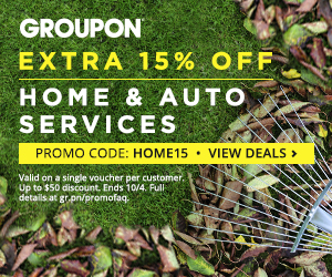 10/3-10/4 15% off one Local Home or Auto Services Deal with code HOME15