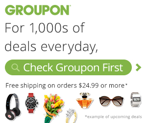 Free Shipping on Groupon Goods $24.99 +