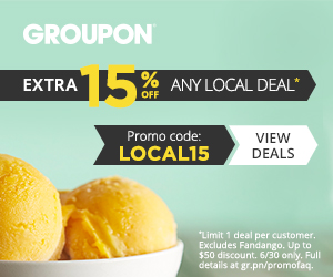 6:30 15% off 1 Local Deal on Groupon with code LOCAL15
