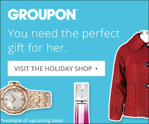 Groupon Holiday Shop: For Her 300x250