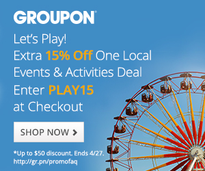 15% off 1 Local Events & Activities Deal at Groupon with code PLAY15