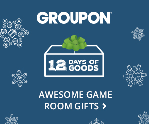 Valid 12/3:  12 Days Of Groupon Game Room Gifts