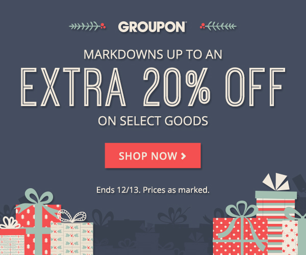 Extra 20% off Select Goods