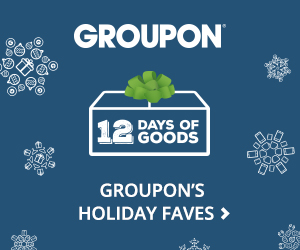 Groupon 12 Days of Goods: Up to 75% Off Our Holiday Faves Valid 12/9
