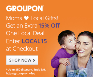 15% off 1 Local Deal on Groupon with code LOCAL15