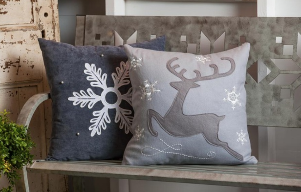Fall and Winter Holiday Pillows from $21.99.