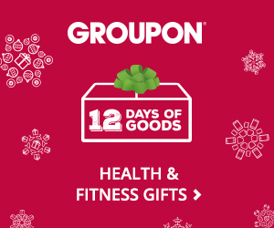 Groupon 12 Days of Goods: Up to 75% Off Health & Fitness Gifts Valid 12/14