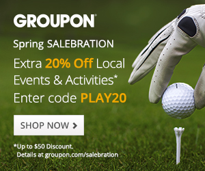 20% off Local Events and Activities at Groupon