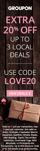 20% off up to 3 Local deals - 2/9-2/10 Code: LOVE20