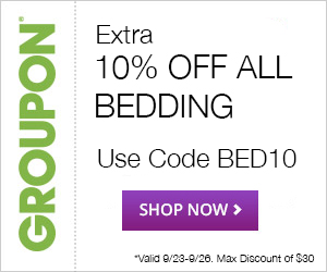 10% OFF Bedding at Groupon Goods