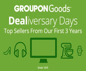 10/2-10/5 Groupon Goods Dealiversary Days: Top Sellers from our First 3 Years