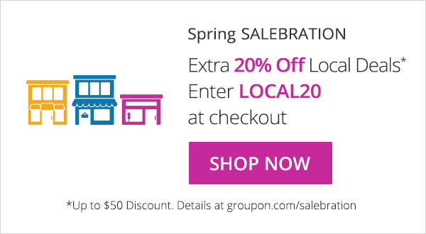 20% Off a Groupon Local Deal!