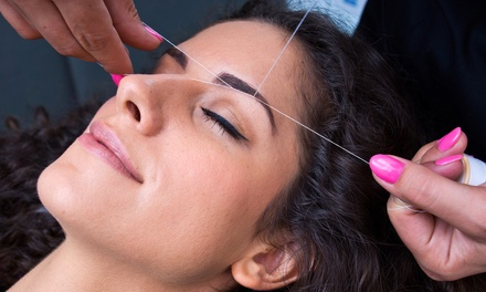 One or Three Threading Sessions for the Brows and Upper Lips at Unique Thread (Up to 52% Off)