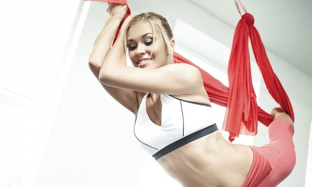 3 or 5 Aerial Yoga Classes or Month of Aerial Yoga Classes at Stress-Less Massage Therapy (Up to 67% Off)