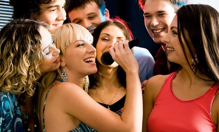 Karaoke Room Rental for 4, 6, 8, 10, or 20 with Asian Cuisine at 5 Bar Karaoke Lounge (Up to 5