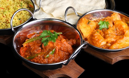 Indian Food at Taj Palace Indian Restaurant (Up to 44% Off). Two Options Available.