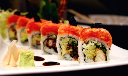 Hibachi Fare and Drinks for Two or More, or Sushi in the Dining Area at Sakana Sushi & Hibachi (Up to 47% Off)