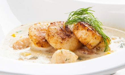 Steak and Seafood at The Beach House (Up to 46% Off). Two Options Available.