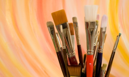 BYOB Painting Class for One or Two at Wild Brush Studio (Up to 53% Off)