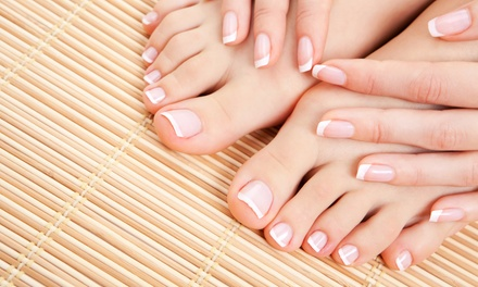 $44 for Spa Mani-Pedi for Two at Elation Nails and Waxing ($96 Value)