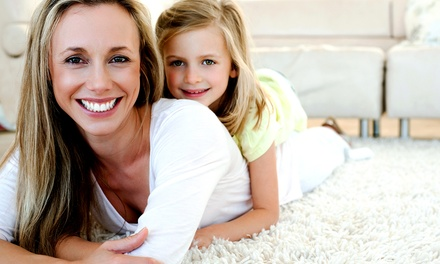 Carpet Steam-Cleaning for Two or Three Rooms from A Plus Total Cleaning Service (Up to 75% Off)
