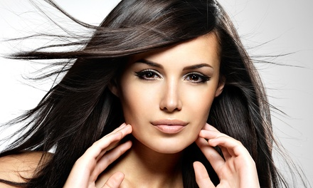 Blowouts, Haircuts, and Highlights at Alpha Beauty Salon (Up to 54% Off). Three Options Available.