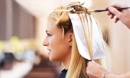 Haircut and Blowout with Single Process Color or Highlights at Kara Burchard at SpaGo(Up to 51%Off)