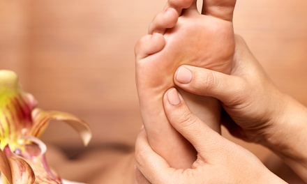 $20 for a One-Hour Foot-Reflexology Treatment with Hot-Stone Enhancement at The Foot Spa ($58 Value)