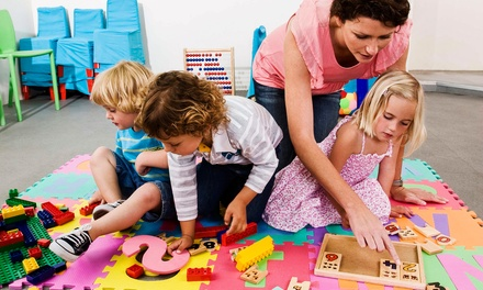 Five or Ten Hours of Drop-In Child Care at Giggles Drop-In Childcare (Up to 56% Off)