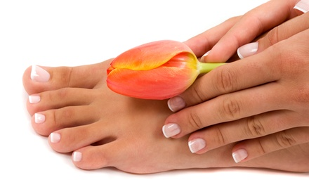 Basic or Deluxe Mani-Pedi Package at Peace Nails & Spa (Up to 51% Off)