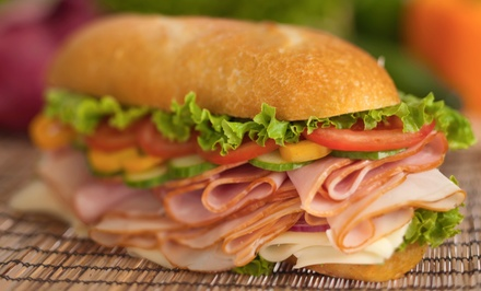 Subs and Salads at On Site Bites (Up to 52% Off). Two Options Available.