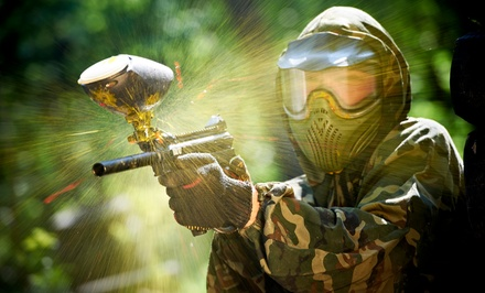Paintballing Package with Protective Masks and Markers for 4, 6, 8, or 12 at Warzone Paintgames (Up to 81% Off)