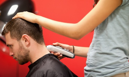 Men's Signature Haircut, Men's Brow Wax, or Deep Conditioning Treatment at The Man Shop (Up to 40% Off)