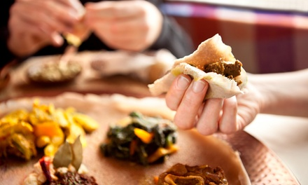 Ethiopian or Italian Meal for Two at Queen of Sheba Restaurant (Up to 47% Off). Two Options Available.