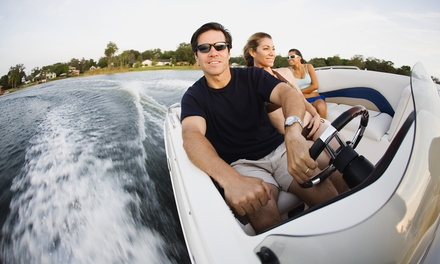 Two-, Four-, or Eight-Hour Boat Rental for Up to Five People from Just Go Rental, LLC (Up to 51% Off)