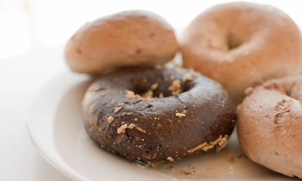 $12 for a Dozen Bagels and Two 8-Ounce Cream Cheeses at Bagel Guys ($20.49 Value)