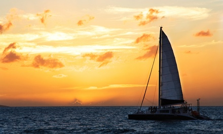 $49 for a Mid-Day, Happy Hour, or Sunset Cruise for Two from Nauti Cat Cruises (up to an $80 Value)
