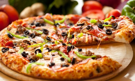 Pizza, Calzones, and Other PIzzeria Classics at Two Guys Pizza (40% Off). Two Options Available.