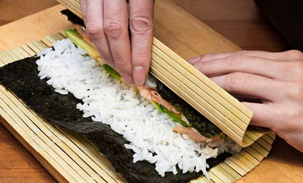 $79 for a Sushi-Making Experience for Two at Sushi Guru ($150 Value). Eight Dates Available.