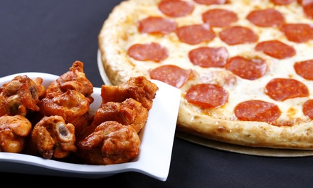 Pizza and Wings Meal or $12 for $20 Worth of Food for Carryout or Delivery at Easy Peasy Pizza