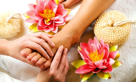 Signature Pedicure or Mani-Pedi with Reflexology Massage at J. Michael The Salon (Up to 58% Off)