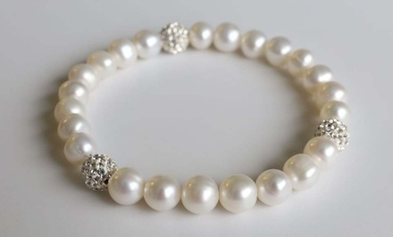 Freshwater Pearl Bracelet with Swarovski Elements