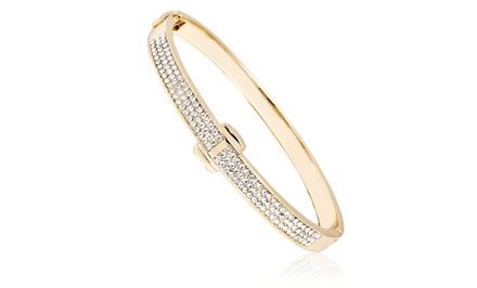 1 CTTW Swarovski Elements Bangle in 18K Gold Plated Brass
