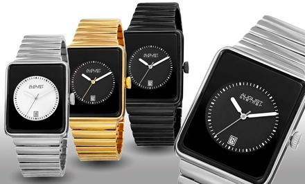 August Steiner Men's Classic Rectangular Case Bracelet Watch