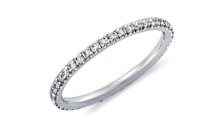 18K White Gold Plated Eternity Ring