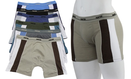6-Pack Men's Cotton Boxer Briefs with Side Contrast Panel